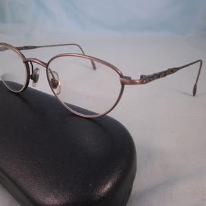LAURA ASHLEY Rx Eyeglasses PENELOPE Antique Brown